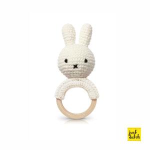 a.teethers - miffy handmade teether, white + music (EAN 871 932 438 1543)