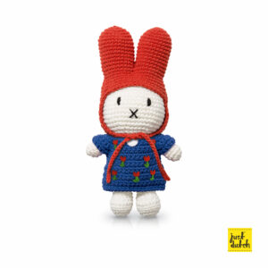 tulips - miffy handmade and her blue tulip dress + red hat (EAN-8719324381086)